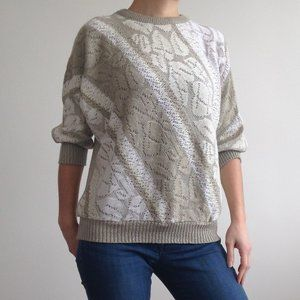 *Vintage* Le-La - Half Sleeve Knit Sweater